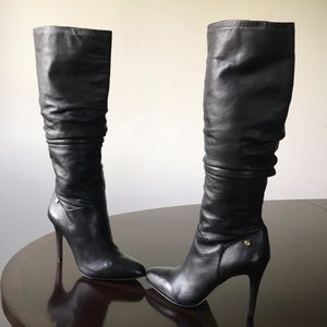 Louise et Cie Blk Knee hi Stiletto High Heel Boots